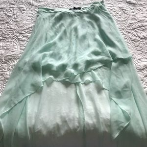 Turquoise High Low Skirt